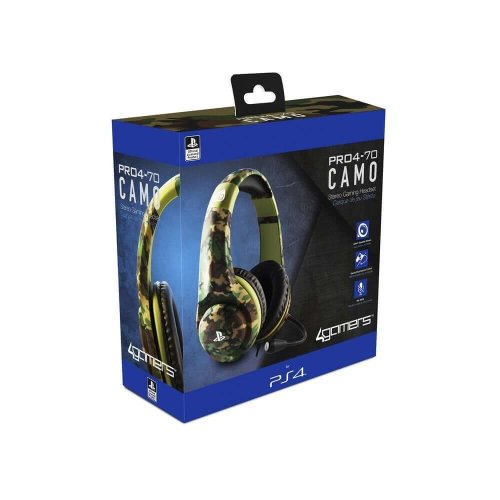 4Gamers PS4 Camo Ed Stereo Gam Headset Woodland