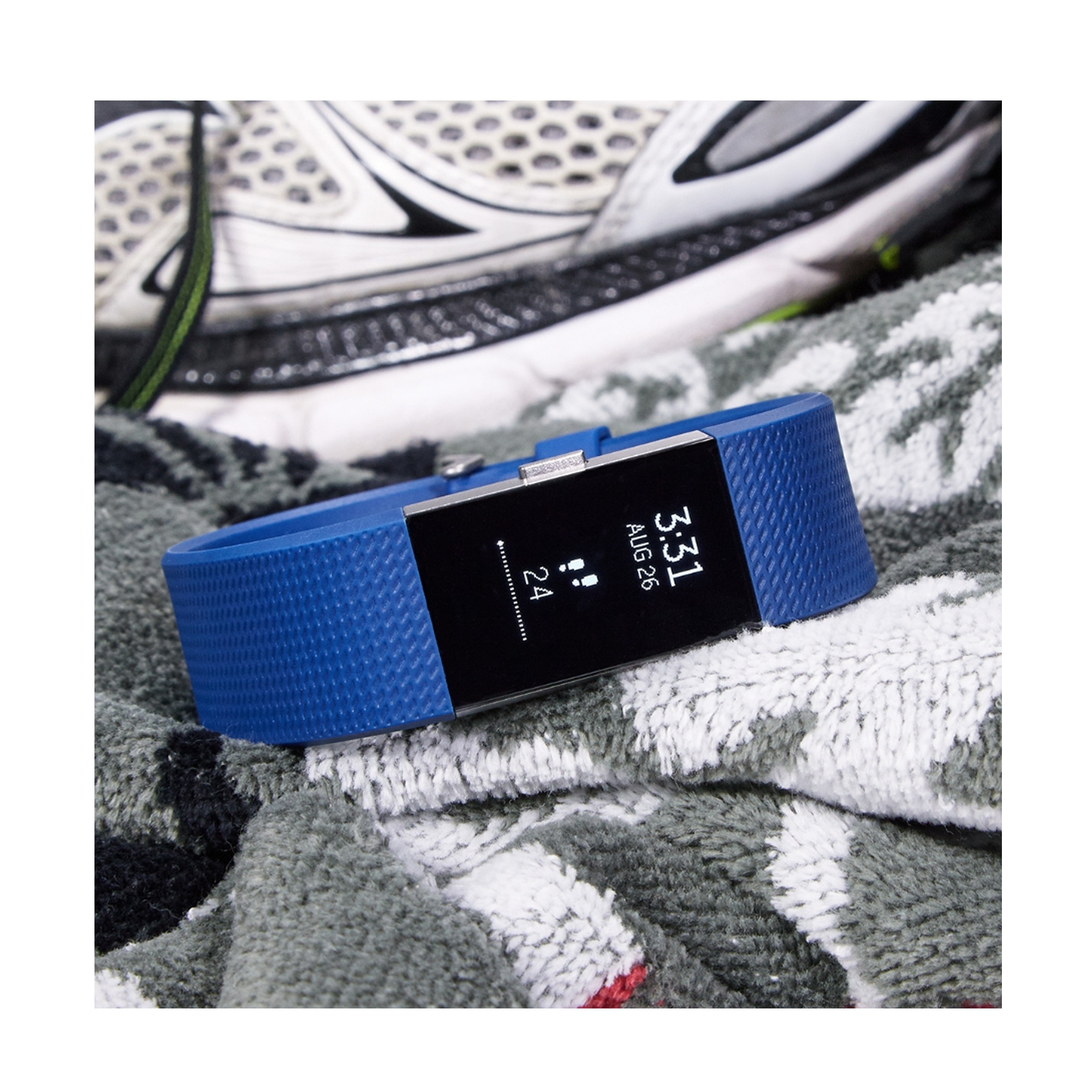 Fitbit Charge 2 FB407SBUL-EU Blue Silver L