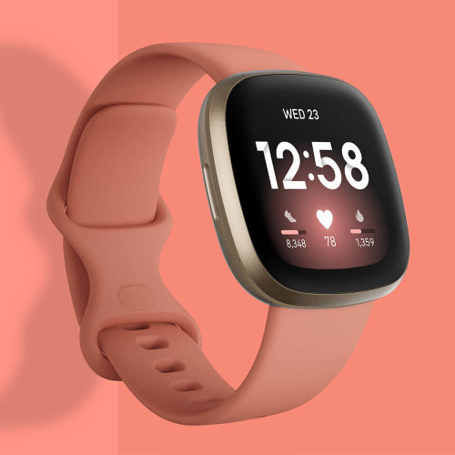 FitBit Versa 3 Pale Yellow Gold/Pink Clay